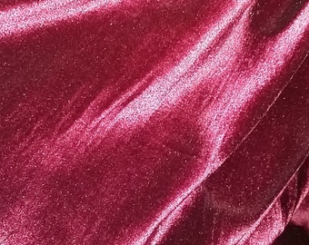 Vintage Grape Velvet Fabric, Velvet Fabric by the Yard, Limited edition fabric
