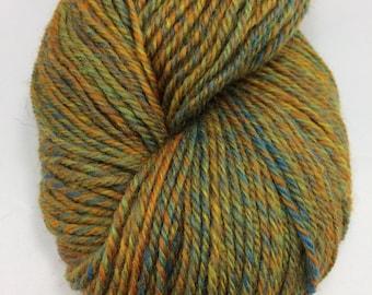 """Handspun Sock Yarn """"Sunset Sky"""" merino BFL 300 yds."""