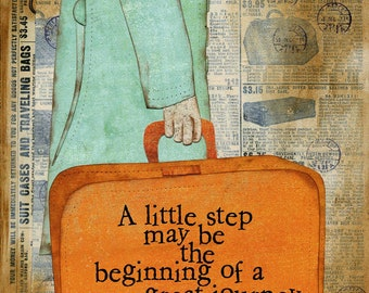Little Steps Art Print