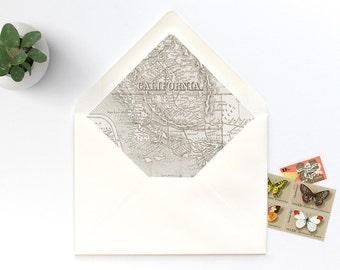 California Vintage Map A7 Envelope Liner