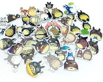 Totoro Sticker Set, Cute Kawaii Stationary, Journal Album Label