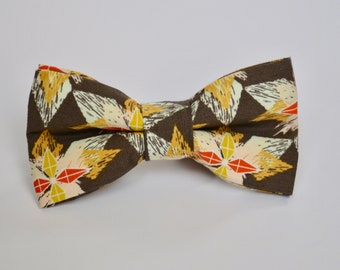 Brown Patterned Bow Tie