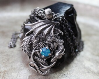 Dragon Necklace - Crystal Dragon Necklace Dragon Jewelry Gifts for Her Game of Thrones inspired