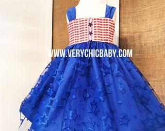 July 4th Dress, Fourth of July Dress, July 4th Outfit, Fourth of July Outfit, Independence Day Dress, Fireworks Dress, July Fourth Dress