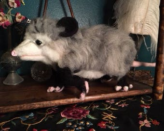 Cute Needle Felted Possum