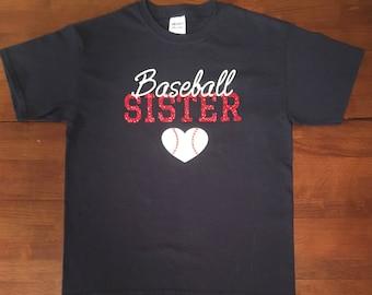 Baseball Sister T-Shirt, Sport Sister T-Shirt