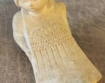 Rare Mid-Century Vintage  Marabell Sandstone Girl Figurine