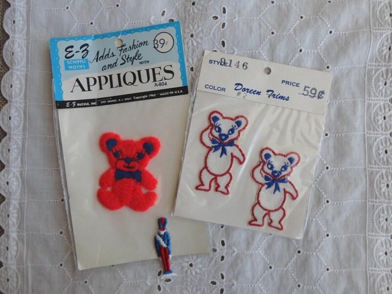 Teddy bear applique pattern tollebild