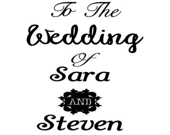 "Custom Vinyl ""Welcome"" Wedding Sign Decal - Attach to Any Frame or Wood"