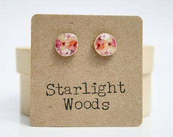 Flower Stud Earrings • Pink Earrings • Pink Stud Earrings • Tiny Stud Earrings • Flower Earrings • Floral Earrings