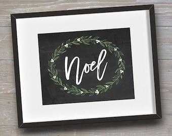 "Sign ""Noel"", Version 2 // INSTANT DOWNLOAD // Christmas, Holiday // Printable, Digital"
