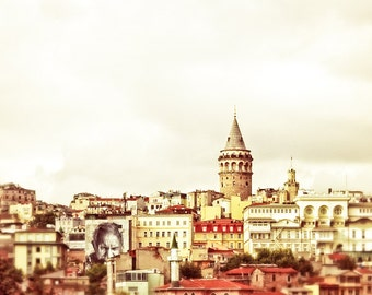 "Istanbul photography, Turkey print, Istanbul art print, large photography - ""Muezzins and Minarets"""