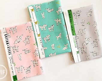 Clover Little Lambs Fat Quarter Bundle, 3 Pieces, Alexia Marcelle Abegg, Cotton+Steel, RJR Fabrics, 100% Cotton Fabric, 4025