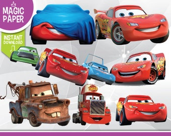Cars Clipart - Pixar Digital 300 DPI PNG Images, Photos, Scrapbook, Cliparts - Instant Download