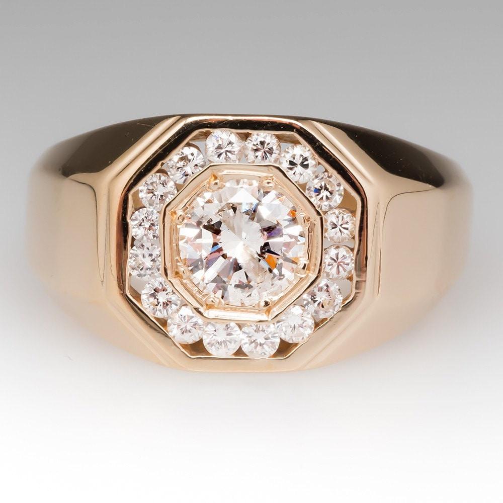 herren diamant ring vintage 1 karat diamant ring mit diamant. Black Bedroom Furniture Sets. Home Design Ideas