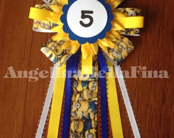 New Minions Children's Birthday Corsage