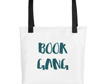 Funny Book Gang Bookworm Book Lovers Reading Print  Tote bag