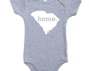 Homeland Tees South Carolina Home Unisex Baby Bodysuit