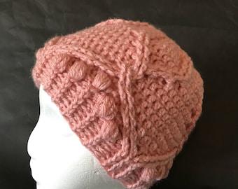 Crochet Messy Bun Beanie, Mom Hat, Bad Hair Day Beanie, Royal Twist Messy Bun Beanie