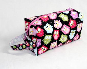 Snooze Owls Project Bag with Owl Bead