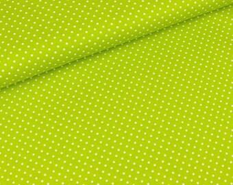 Cotton Judith white dots on light green (8,90 EUR / meter)