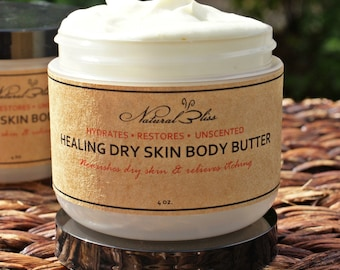 Healing Dry Skin | Body Butter For Dry Skin | Unscented Body Butter