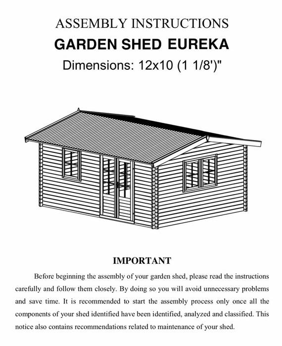 eureka guest house kit storage shed kit wooden cabin kit tiny house kit - Garden Sheds Eureka Il