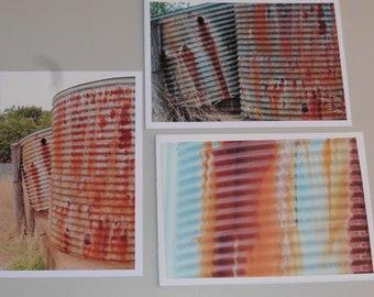 Rust Trio - 3 x Blank Cards