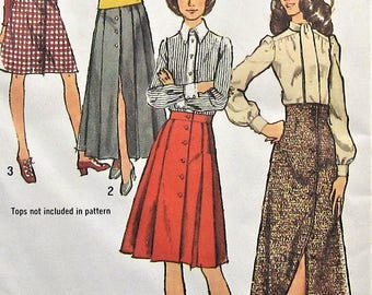 Vintage Skirt Sewing Pattern Simplicity 5258 Size 10
