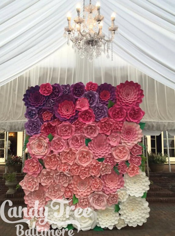 8x10 paper flower backdrop giant paper flowers wall paper flower wall large paper flowers wedding wall wedding arch