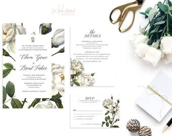 Printable Wedding Invitation Suite / Wedding Invite Set - The Olivia Botanical Suite