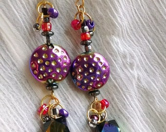 Purple Iridescent Earrings