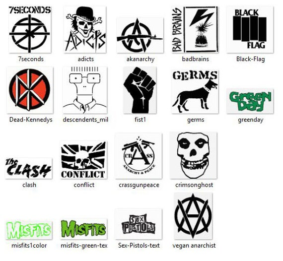18 Punk Rock Band Embroidery Designs Pes Xxx Hus Dst