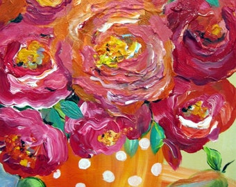Original painting acrylic painting 11 x 14 Art by Elaine Cory