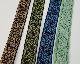 Medieval folk Jacquard fabric trim 5/8 inch wide sold by the yard
