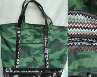 Tote bag, camouflage print.