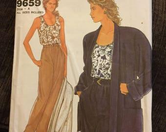 It's Simplicity Vintage Misses Jacket, Top, and Pants Pattern 9659