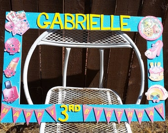 Birthday, Baby Shower, Wedding, Shopkins Themed Party Photo Prop Frame