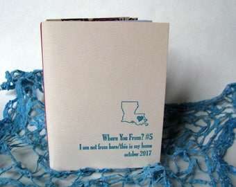 Where You From #5? Zine with letterpress cover