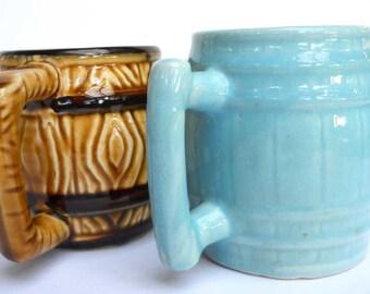 Ceramic Mug Pair Vintage Japan
