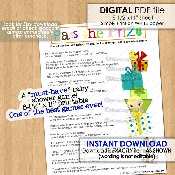 Pass The Prize Baby Shower Game A Must Have And So Much Fun