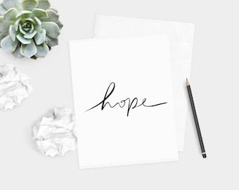 "DIGITAL DOWNLOAD - ""Hope"" Print (5x7 & 8x10)"