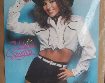 Urban Cowgirl 20x28 80's Pin Up Girl Poster 1980 Marlene