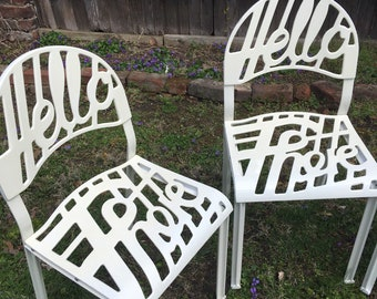 """Artifort """"Hello There"""" chairs"""
