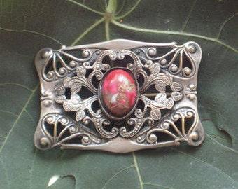 Victorian Brooch / Sash Pin / Art Nouveau Jewelry / 1900s