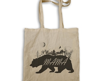 Mama Bear Wild Nature Tote bag u339r