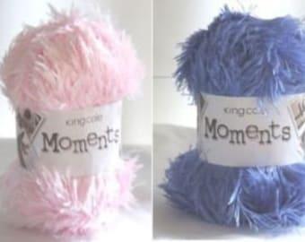 Double Knitting, DK, King Cole Moments EyelashYarn