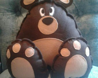 Bear big foot plushie! Stuffed Animal plush