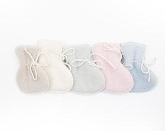 LANACare woolen baby booties