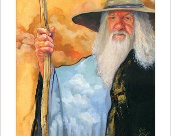 "8x10 Print ""The Sky Wizard"" - Fantasy Art Illustration Reproduction"